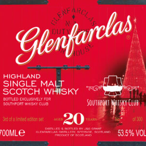 Glenfarclas 20 year old cask strength SWC Exclusive