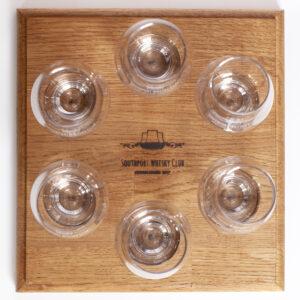 Whisky Flight Tray 6 and 6 SWC Glencairn Glasses
