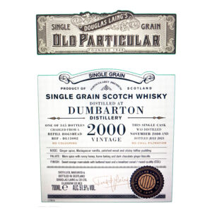 Dumbarton 2000, Festival (and UK) Exclusive (Douglas Laing, Old Particular)